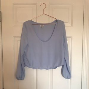 Tobi - Baby blue crop top (Size small)